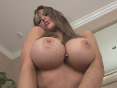 Huge tits Jenna Presley using her pink toyvideo